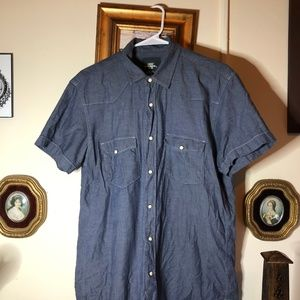 H&M Mens Short Sleeve Button Up